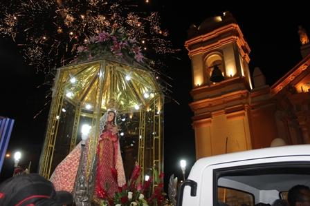 """Masivo  recibimiento a la """"Virgen de la Puerta de Otuzco"""""""