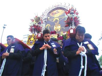 Programa de Festividad del Señor de los Milagros en Trujillo