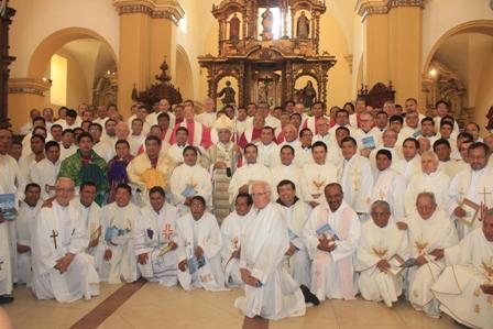 Clero trujillano renovó promesas sacerdotales
