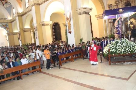 Fieles trujillanos iniciaron la Semana Santa