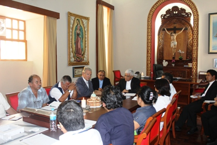 Arzobispo interviene en acuerdo del sector Salud La Libertad y Gobierno Regional