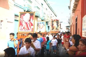 Pacasmayo: celebraciones de fe por la canonización de  Juan Pablo II y  Juan XXIII