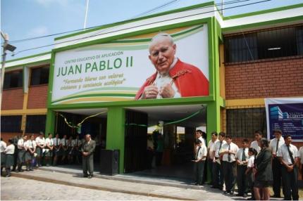 """Implementa mejoras en el centro educativo de aplicación """"Juan Pablo II"""""""