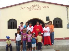 Niños visitaron capilla San Isidro en Paiján