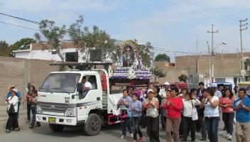 Peregrinación del Señor de los Milagros en Chicama