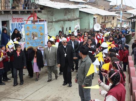Quiruvilca: Arzobispo confirmó a jóvenes en aniversario