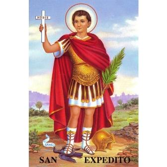 Entronizan imagen de San Expedito en San Lorenzo