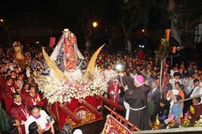 Quinquenio: Virgen de Huanchaco llegó a Trujillo