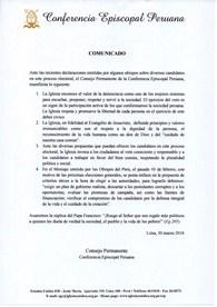 Elecciones 2016: Comunicado de los Obispos del Perú