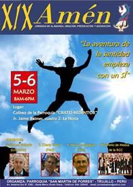 """Trujillo celebra jornada del """"Amén"""" este 5 y 6 de marzo"""