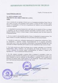Carta al presidente del Directorio de Latina TV