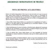 Nota de Prensa Aclaratoria