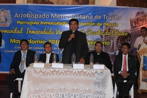 Inicia celebración por 73° Aniversario de Coronación Canónica de la Virgen de la Puerta de Otuzco