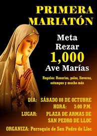 """Pacasmayo: """"Primera Mariatón"""" busca meta de rezar mil Ave Marías"""