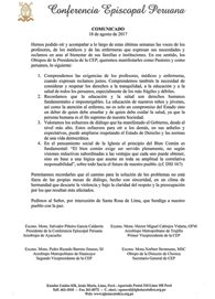 Comunicado de la Conferencia Episcopal Peruana sobre las huelgas que afectan al país