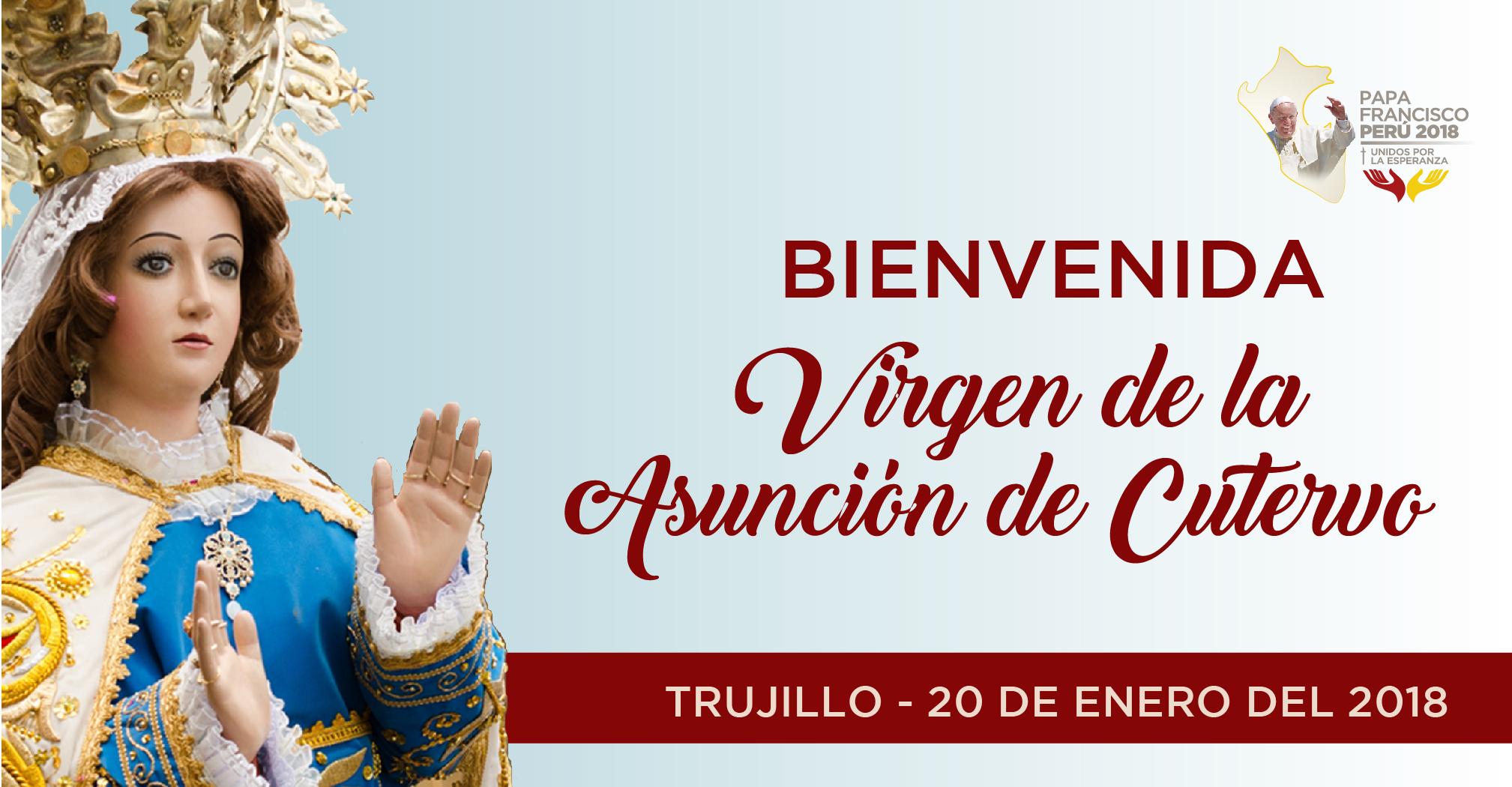 Cajamarca: Virgen de La Asunción de Cutervo al encuentro con el Papa Francisco en Trujillo