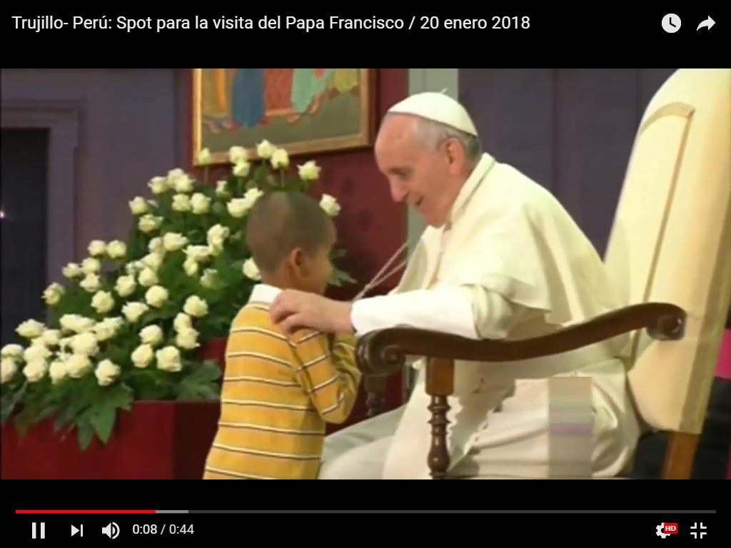Se lanzó el Spot oficial de la visita  Papal a Trujillo y el Norte del Perú.