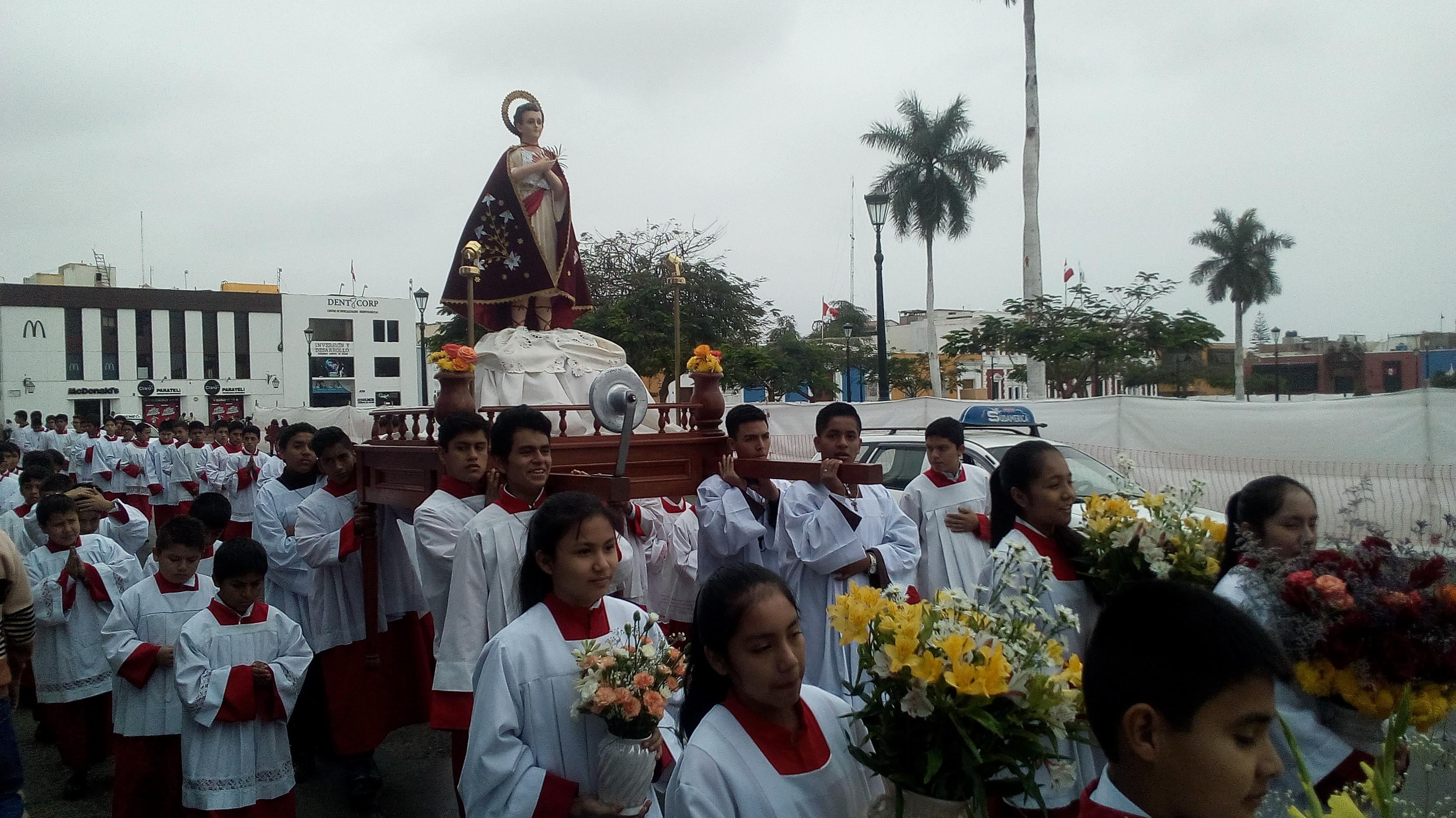 San Tarsicio, patrón  de los monaguillos