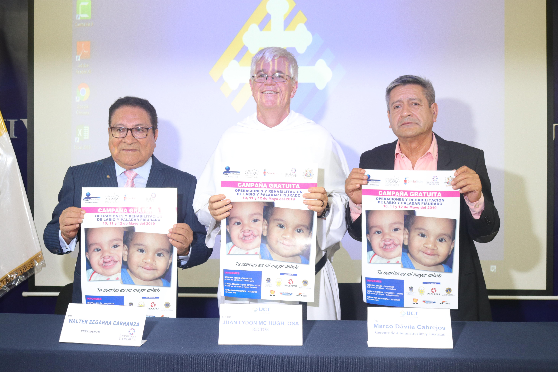 UCT y Fundación Margarita firman convenio a favor de niños con labio leporino