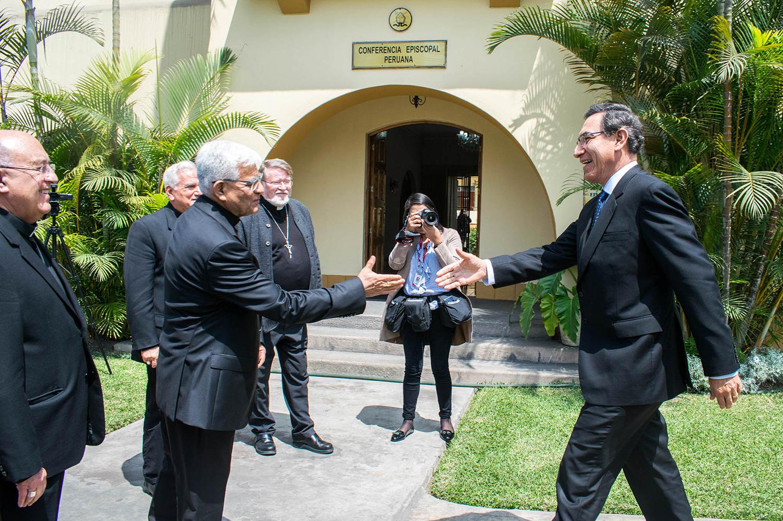 Obispos del Perú recibieron la visita del Presidente de la República, Martín Vizcarra Cornejo