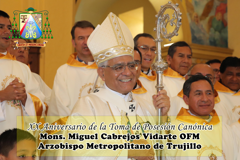 Mons. Miguel Cabrejos cumple 20 años como Arzobispo de Trujillo