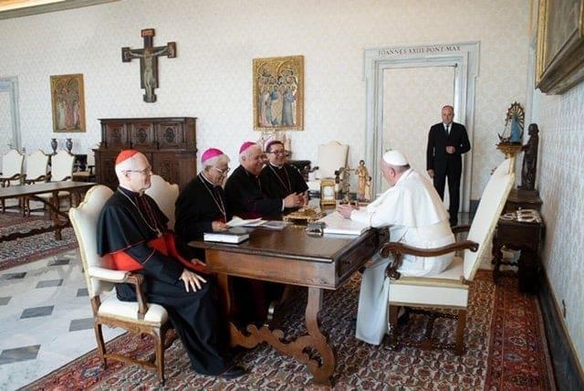 Papa Francisco recibe a la presidencia del Celam