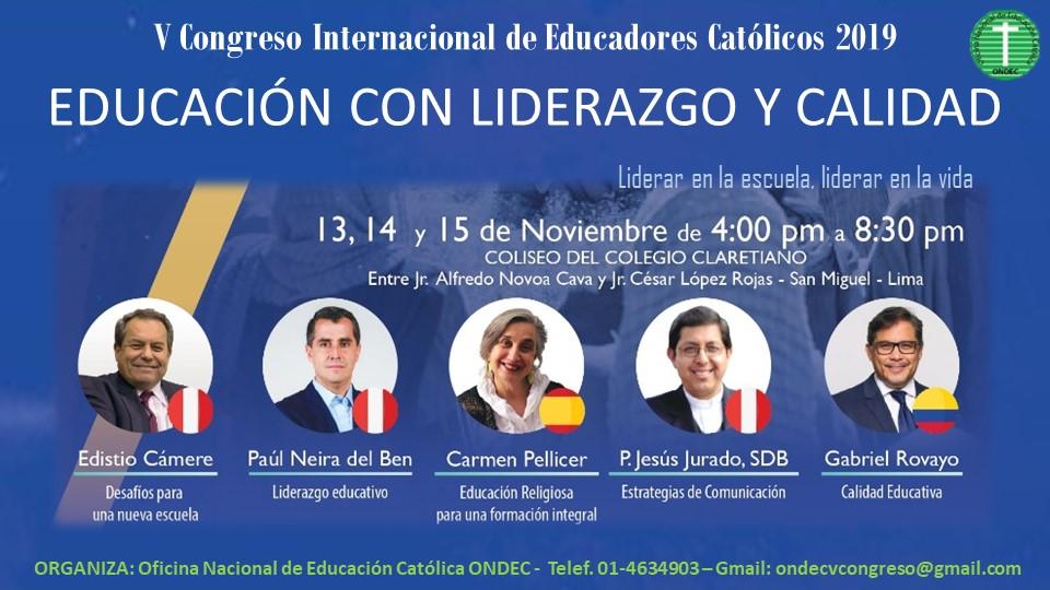Lima: Anuncian V Congreso Internacional de Educadores Católicos
