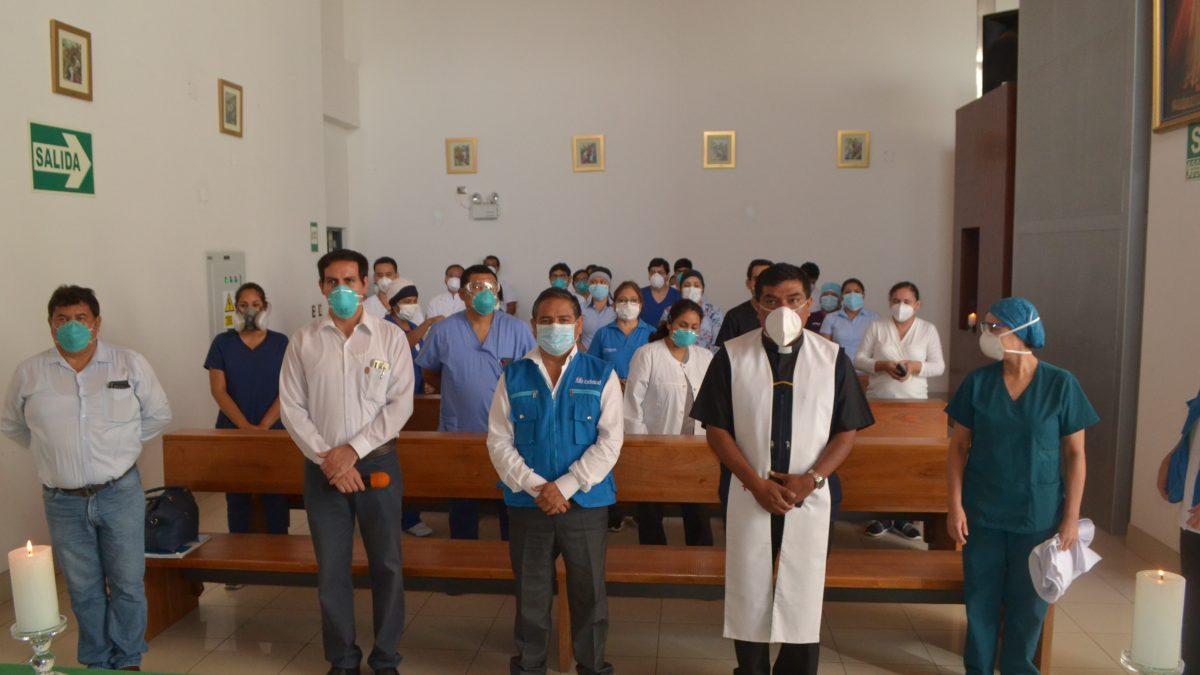 COVID-19.: Iglesia acude a llamado de médicos EsSalud para brindales soporte espiritual