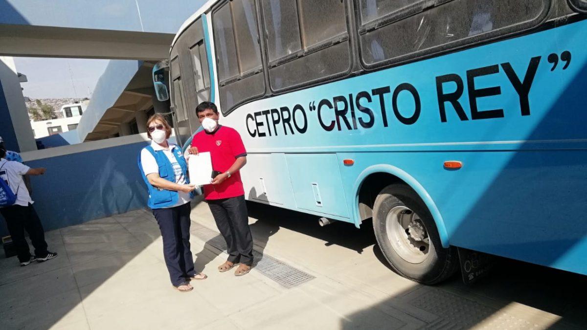 Coronavirus: Iglesia pone a disposición  un bus para traslado médico de EsSalud