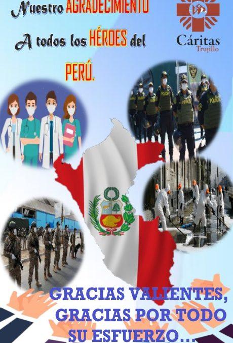 """""""Resistiré"""": Cáritas Trujillo rinde homenaje a héroes del Covid-19"""