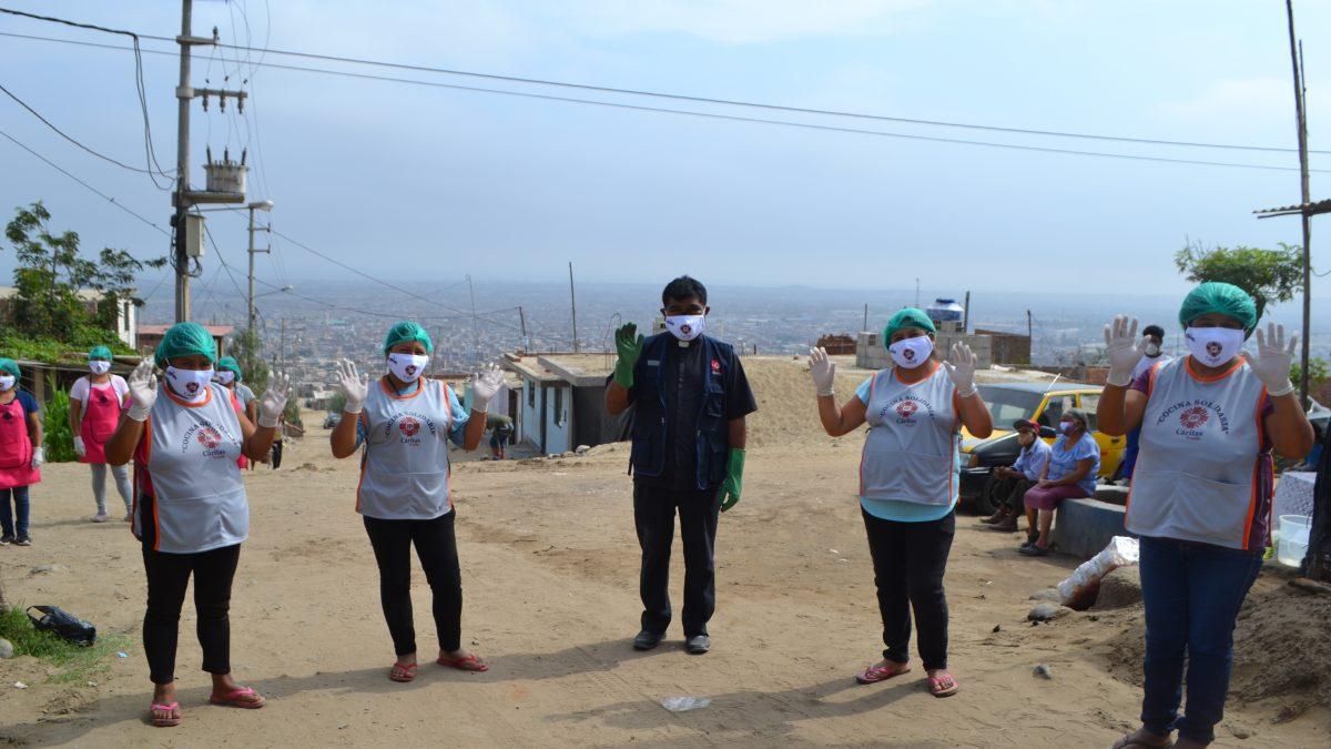 """COVID-19: Cáritas Trujillo abre dos nuevas """"Cocinas Solidarias"""" en La Esperanza y Huanchaco"""