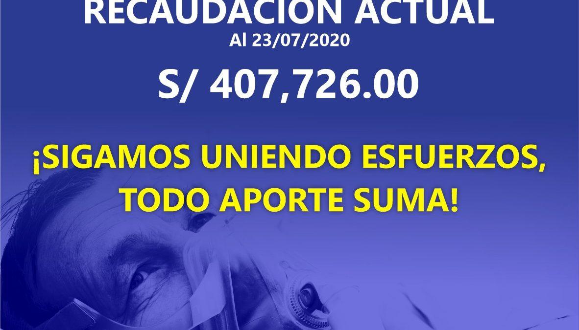 "Colecta pública de ""Respira Trujillo"" aumentó a S/. 407,726.00"
