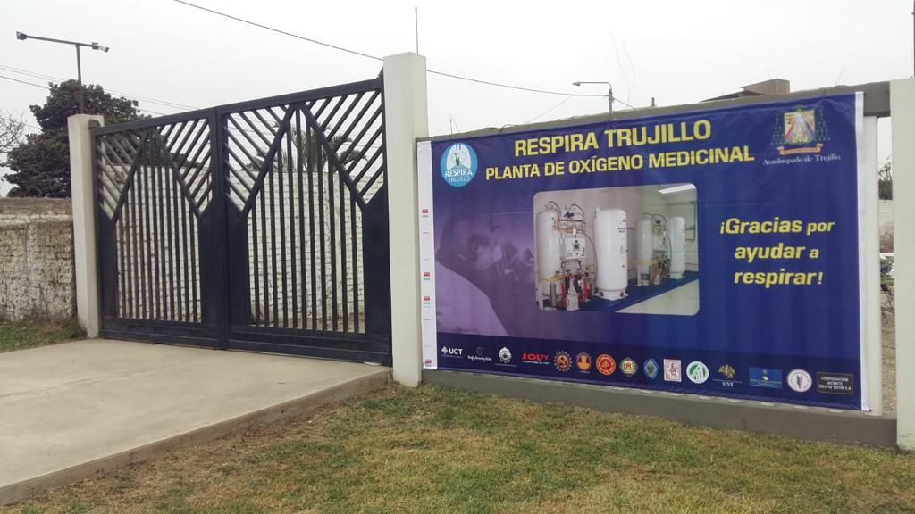 """Instalarán planta de oxígeno de """"Respira Trujillo"""" este miércoles 30"""