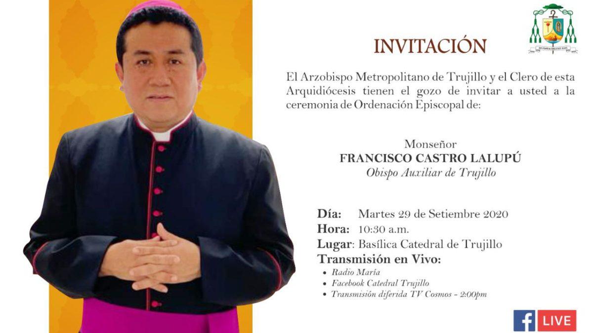 Arquidiócesis de Trujillo anunció Ordenación Episcopal de su nuevo Obispo Auxiliar