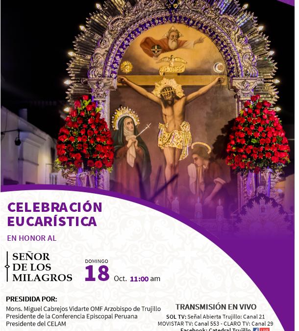 Domingo 18: Arzobispo presidirá Misa Central en honor al Señor de los Milagros