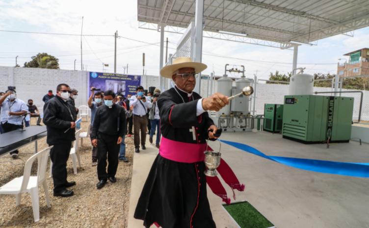 """Planta de oxígeno de """"Respira Trujillo"""" fue instalada en Moche"""